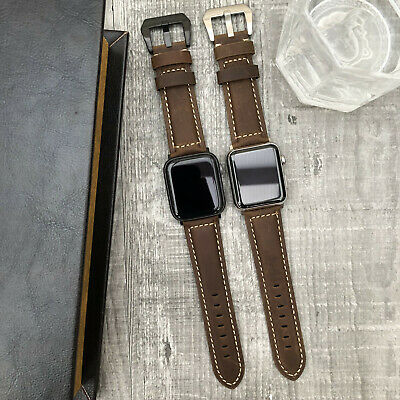 BULL Leather Watch Strap Band For Apple watch iwatch Series 5 4 3 38/40/42/44mm