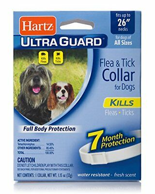 "Hartz UltraGuard Flea & Tick Collar for Dogs and Puppies - 26"" Neck, 7 Month Pro"