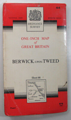1965 old OS Ordnance Survey One-inch Seventh Series Map 64 Berwick-upon-Tweed