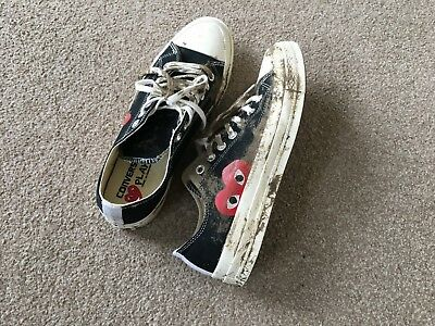 70efbebaccbe99 WORN ONCE Converse Comme Des Garcon Play - Chuck Taylor Low- UK Size 9 CDG