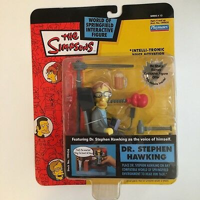 Dr. Stephen Hawking Simpsons figure - playmates WOS.Series 13 RARE