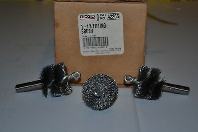 "Ridgid 1-1/4"" Fitting Brush (Qty 3) Catalog 42265"