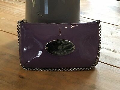 243c0f120de MULBERRY CHARLIE PATENT Leather Clutch Bag In Berry Purple - £60.00 ...