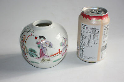 Antique Chinese Porcelain Hand Painted Small Jar
