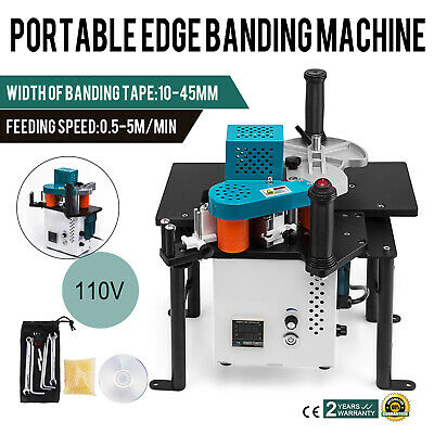 Woodworking Portable Edge Banding Machine 0.3-3mm Thick 270ml Tank 10-45mm Width