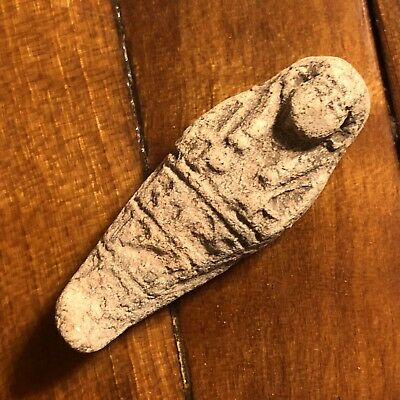 Ancient Egyptian Faience Amulet Talisman 1500BC Mummy Pendant Artifact Ushabti A