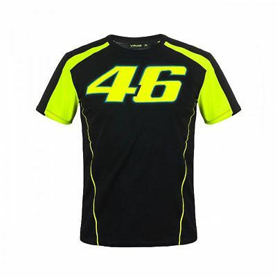 2018 Valentino Rossi VR46 Moto GP 46 Race T Shirt Tee MENS Black OFFICIAL *SALE*