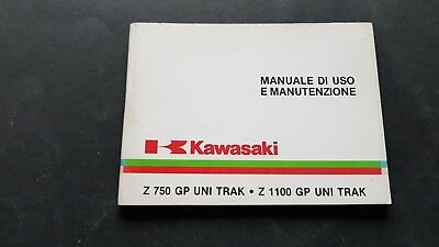 Kawasaki Z 750-Z 1100 GP UNITRAK-750 TURBO 1983 manuale uso italiano originale