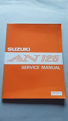 SUZUKI AN 125 Scooter 1994 manuale officina originale INGLESE workshop manual