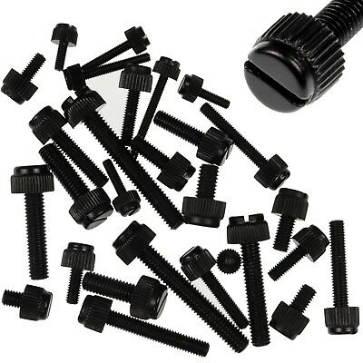 M3 M4 M5 M6 Black Nylon Slotted Knurled Thumb Screws Uk Stock Free Postage