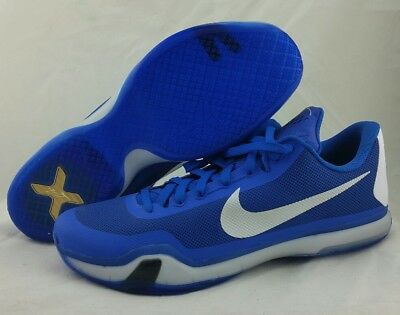 8e3c3e9210db NIKE KOBE X 10 TB BASKETBALL SHOE 813030 402 GAME ROYAL BLUE SILVER MEN S  Sz 18