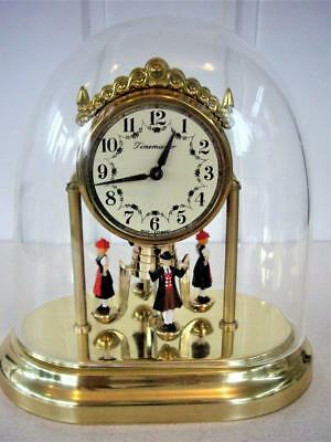 Vintage German Dancing Ladies Dome Mantel Clock - Restored