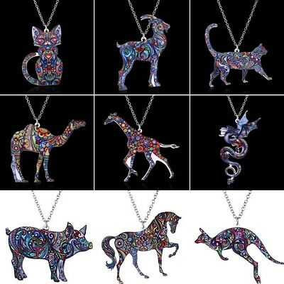 New Fashion Women Animal Cat Dog Sweater Chain Charm Pendant Necklace Party Gift