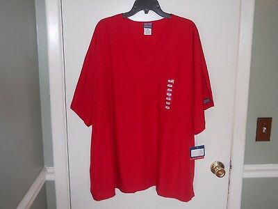 Cherokee WorkWear Scrub Top Size 3XL Red NWT