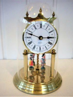 German Quartz Dancing Ladies Dome Mantel Clock - Working