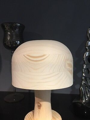 OVAL Reproduction Wooden Hat Block / Hat Stand.  ANY  SIZE MADE TO ORDER