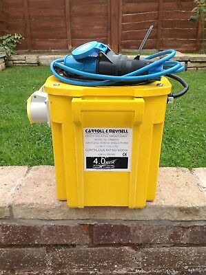 Carroll & Meynell Cm40002 4.kva Transformer Excellent - Condition Little - Used!