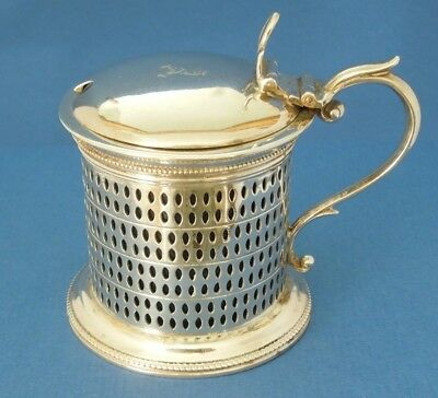 Silver Harrods drum Mustard Pot  very rare  Sir Richard Burbidge  London 1889