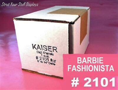 "1 doz Doll Stands  KAISER #2101 WHITE. Fits 12.75"" tall dolls BARBIE FASHIONISTA"