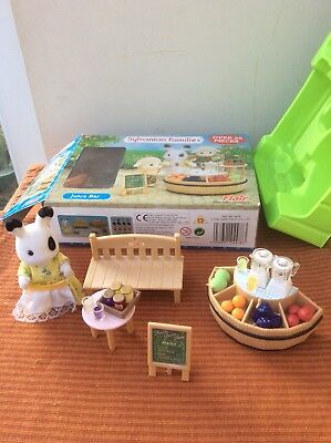 Sylvanian Families Juice Bar With Accessories And Figure In Box
