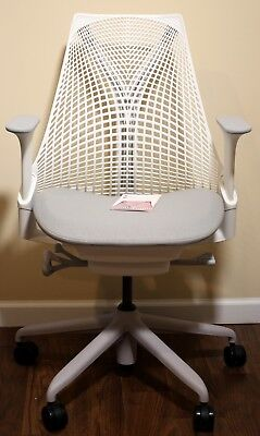 Herman Miller Sayl Office Chair Studio White and Crepe Shale Fabric *NEW*