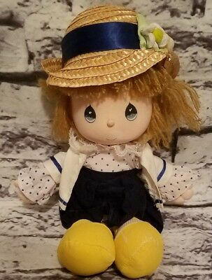 "Precious Moments 1990 Easter Edition Applause Vintage Plush Doll 12"" Straw Hat"