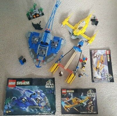 3 RARE DISCONTINUED Lego Star Wars Sets/ 7131, 7141, 7161/ partially  incomplete