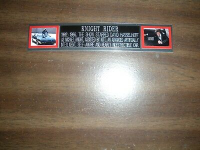 """knight Rider"" (Tv) Engraved Nameplate For Photo/display/poster"