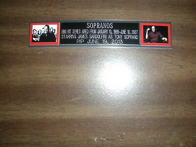 """""""sopranos"""" (Tv) Engraved Nameplate For Photo/display/poster"""