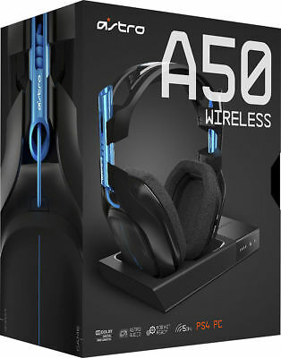 Astro Gaming - A50 Wireless Dolby 7.1 Surround Sound Gaming Headset for PS4