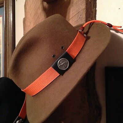 Hunter Orange Hat Band Hand Made by KC HatBands