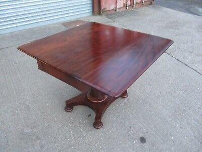 A Victorian Mahogany Breakfast Table Drop Leaf Side Occasional Pembroke Turned