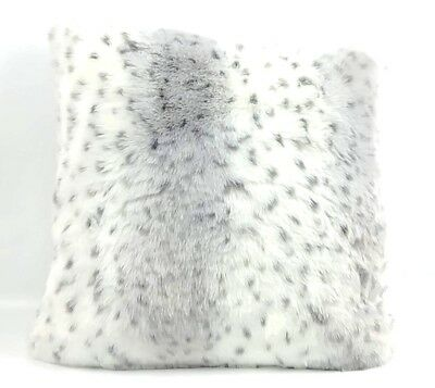 22699efa6f Nordstrom at Home Cuddle Up Faux Fur Pillow Gray Leopard Down Filling