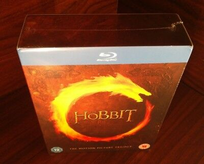 The Hobbit Trilogy (Blu-ray,REGION FREE)Brand NEW-Free Shipping with Tracking