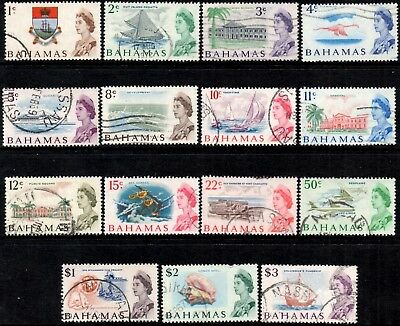 Bahamas 1967  QEII  Pictorial Definitive Set of 15  SG.295/309  Used