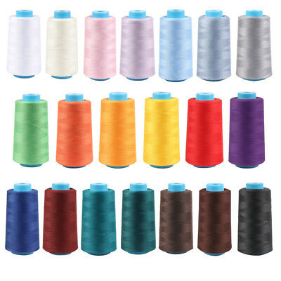 Sewing Thread Polyester 3500 Yard Spools Cones 40S/2 For Serger Sewing Machine