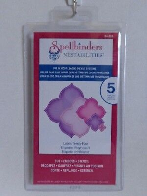 Spellbinders Nestabilities Labels Twenty-Four S4-353, 5 Templates, New in Pkg