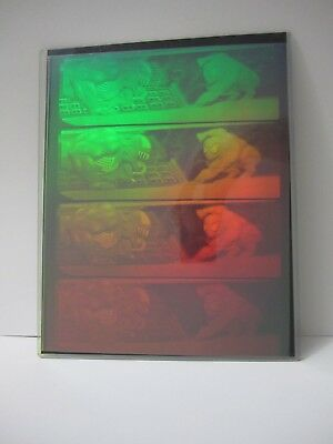 Marvel Spiderman Venom Uncut Hologram Card Sheet Very Rare