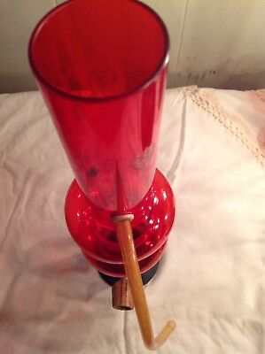 Vintage red and blue tobacco Hookah Bong  pipe Unused Rare Sarah's Family 15""