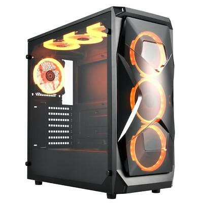 Apexgaming X1 E-ATX Mid Tower Case Tempered Glass Side Panel Steel USB 3.0 Audio
