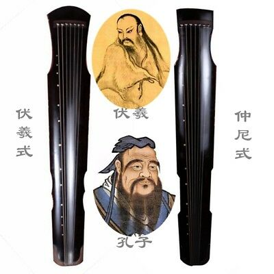 Chinese Aged Fir Chinese Guqin 7-stringed zither instrument Fu-hsi ZhongNi #683