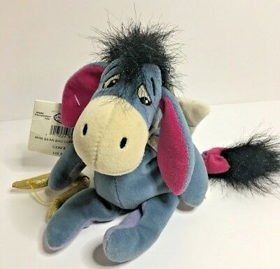 "Disney Store Winnie the Pooh 8"" Cupid Eyeore Plush Stuffed Animal (MM)"