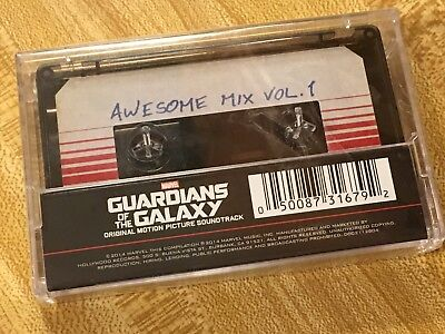 Marvel GUARDIANS Of The GALAXY AWESOME MIX VOL 1 CASSETTE TAPE Soundtrack + Digi