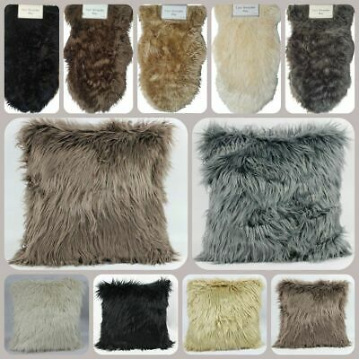 Large Sheepskin Soft Fluffy Faux Furry 45CM Cushion And Covers Mat Shaggy Rugs