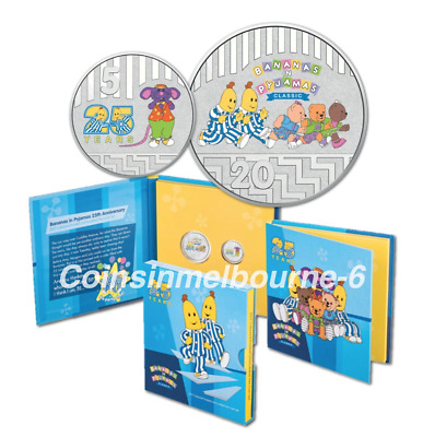2017 Bananas in Pyjamas 25th Anniversary Coin Set - 20 Cent & 5 Cent Australia