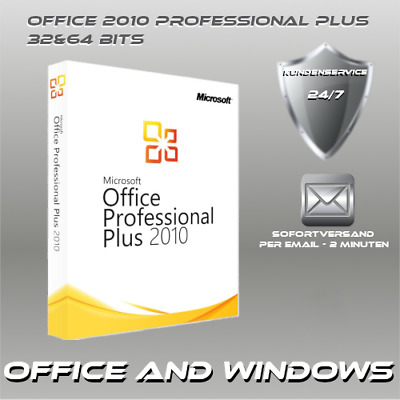 Office 2010 Professional Plus 32&64 Bits, ProduktKey per E-Mail