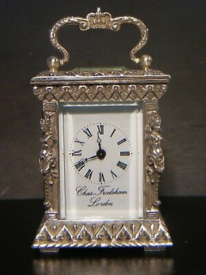 Antique Charles Frodsham Carriage Clock Solid Silver