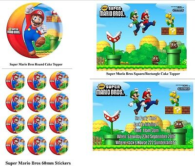 Personalised Super Mario Bros  Party Package