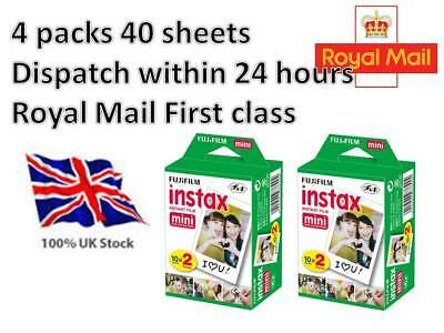 Fuji Fujifilm Instax Mini Film 40 White Films for Fujifilm Mini 7s/8/25/50/90