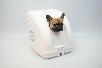 Topcase Tiertransportbox PET ON WHEELS Box Transportbox Tierbox POW Weiss